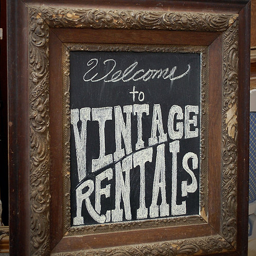 vintage picture frame chalkboard event wedding photography