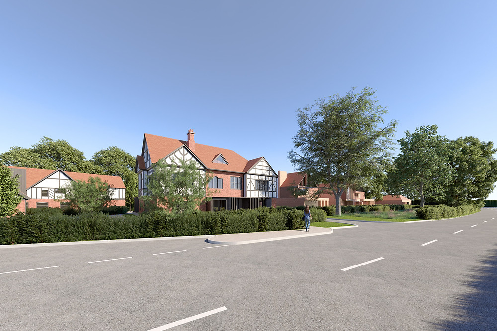 View of the proposed development from Lymm Road