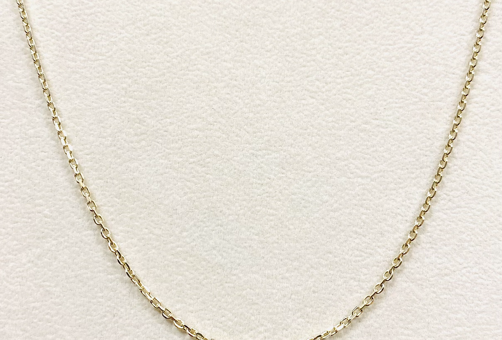 Diamond Cut Cable Chain #50 In 14k Yellow Gold With Lobster Clasp