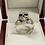 Thumbnail: Men's Split Skull Ring in .925 Sterling Silver