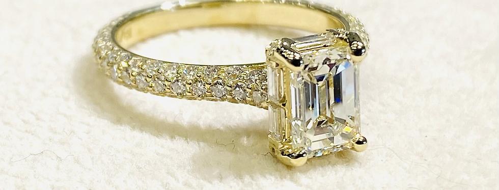 2.36 ctw Emerald Cut Diamond Engagement Ring In 14K Yellow Gold
