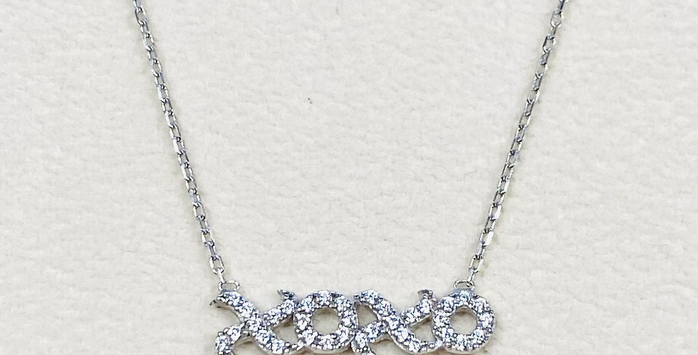 """copy of XOXO Love Cubic Zirconia Pendant In Sterling Silver With 18"""" Chain"""