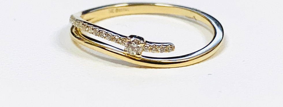 .08 ctw Diamond Band In 14K Yellow Gold