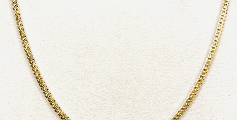 Solid 2.6MM Miami Cuban Chain In 14K Yellow Gold #80