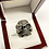 Thumbnail: Skull Ring With Robot Eye In .925 Sterling Silver