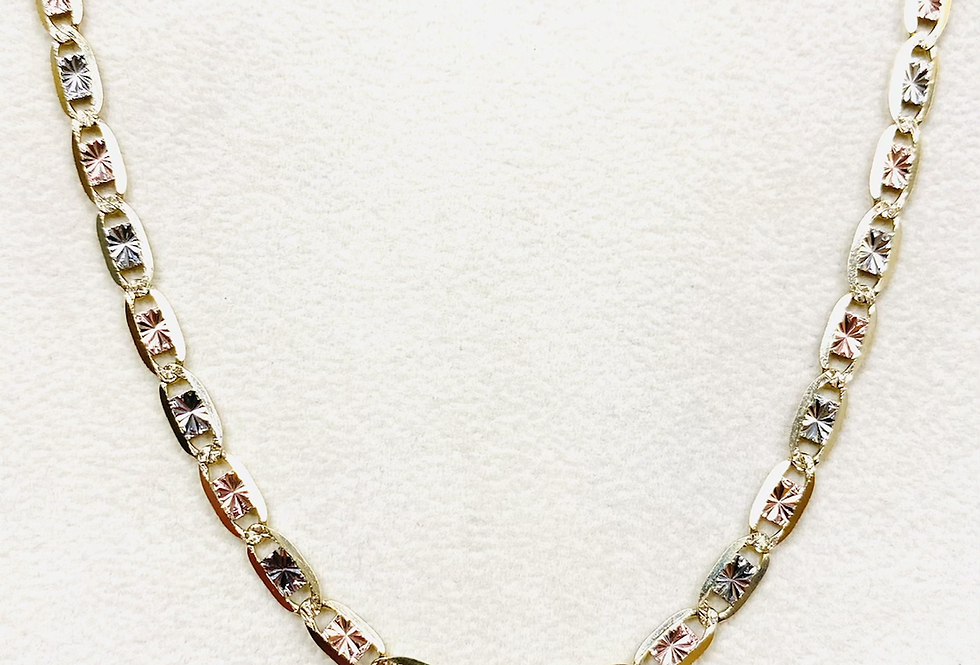 "4MM Diamond Cut Valentino Chain in 14K Yellow Gold 22"" 11.6 Grams"