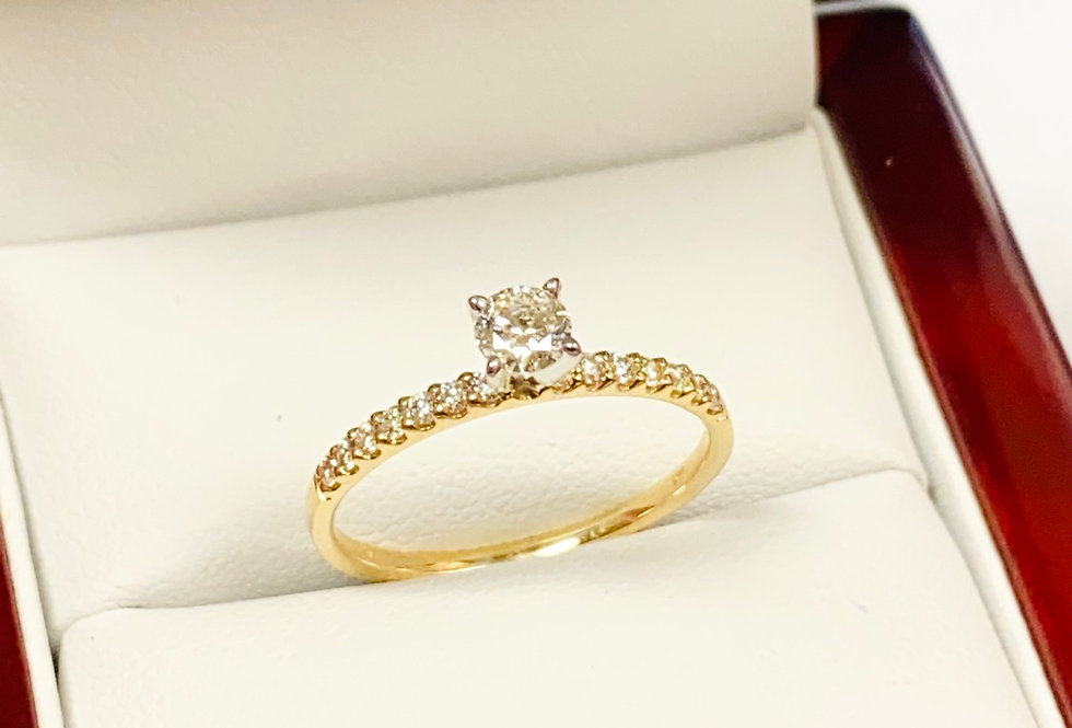 .47 ctw Diamond Engagement/Promise Ring In 14K Yellow Gold