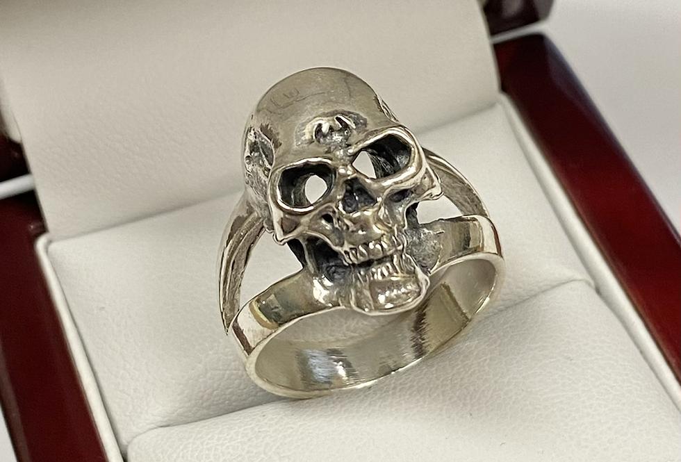 Men's Split Skull Ring in .925 Sterling Silver