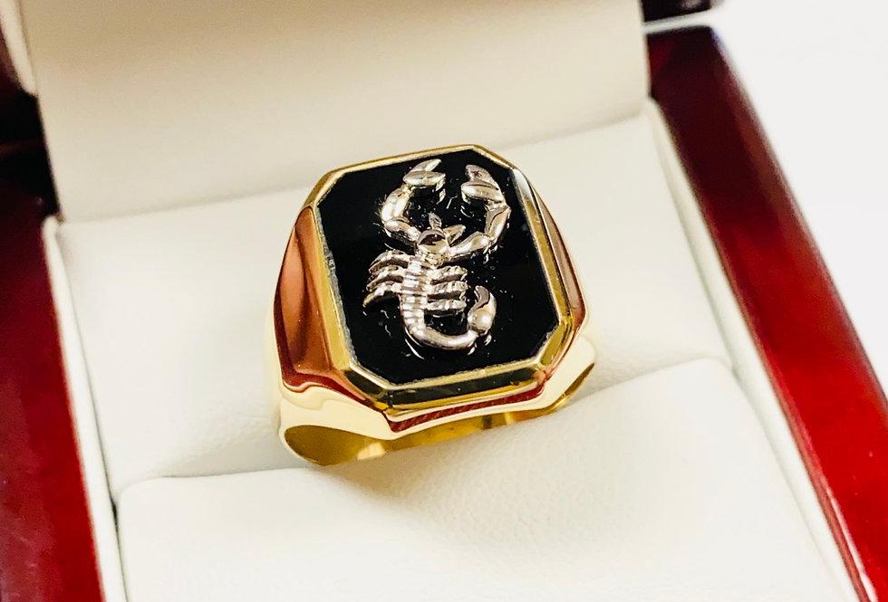 Scorpion Men's Ring In 14K Yellow Gold