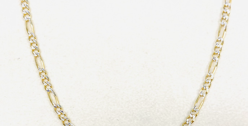 """3MM Solid Figaro Chain 18"""" In 14K Yellow Gold 6.2 Grams"""