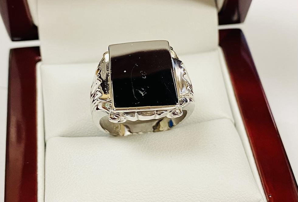 Men's Sterling Silver Signet Ring In .925 Sterling Silver