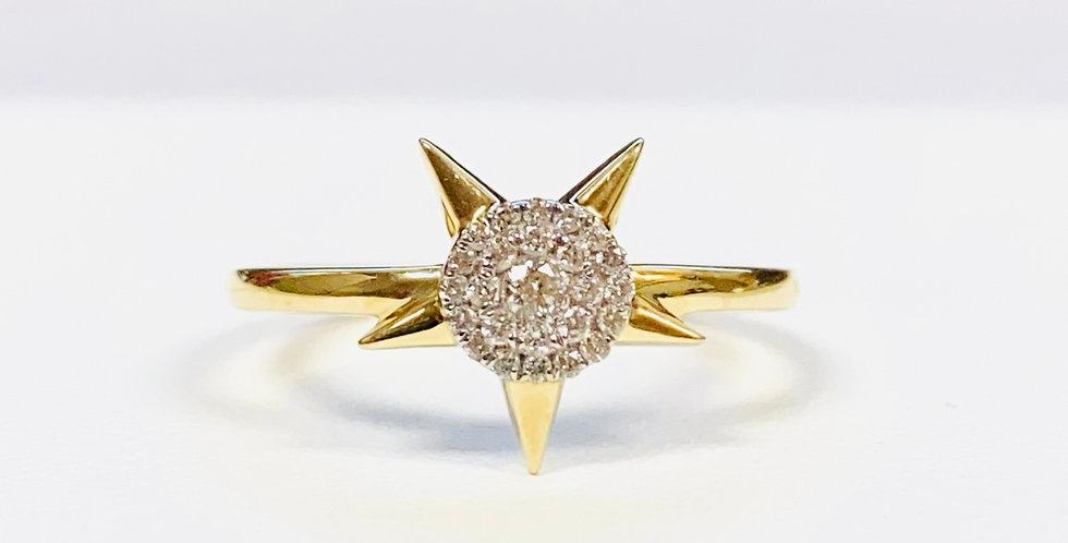 Diamond .15 ctw Star Ring in 14K Yellow Gold