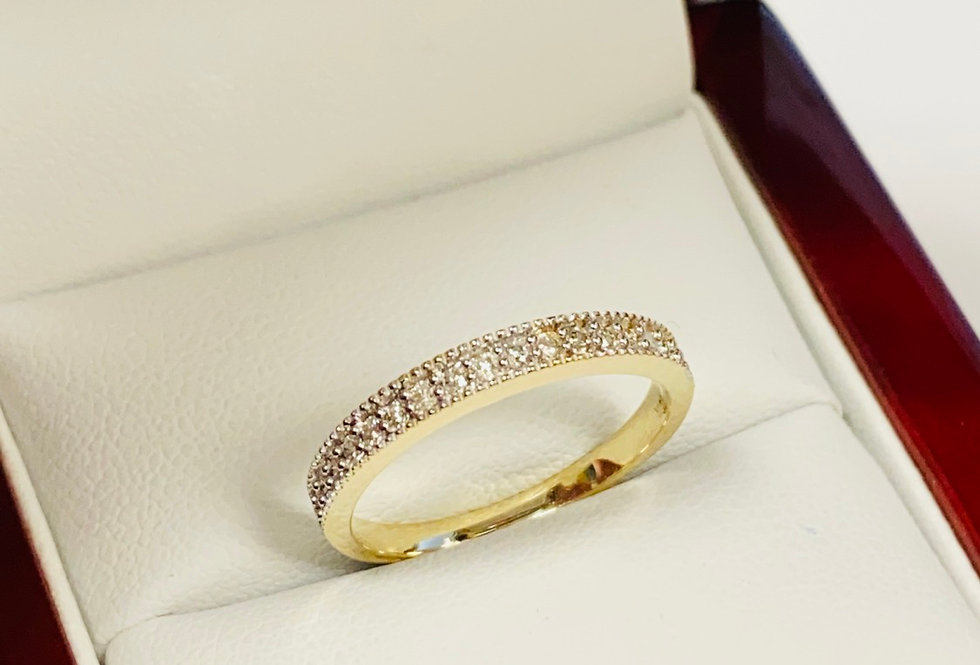 .17 CTW Diamond Band In 10K Two Tone Gold