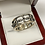 Thumbnail: 10MM Cross & Black Cubic Zirconia Band in .925 Sterling Silver