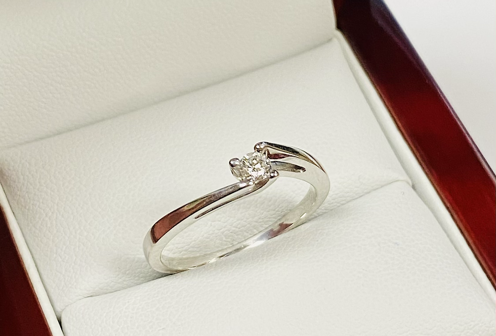 .14 ct Round Diamond Solitaire Ring in 14K White Gold