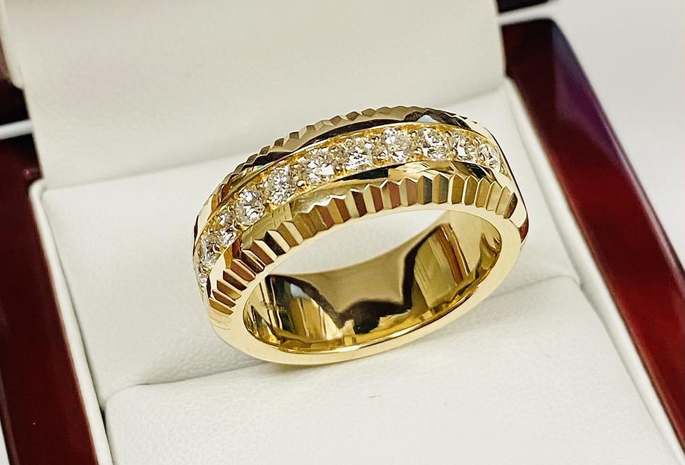 .90 CTW Men's Diamond Band In 14K Yellow Gold