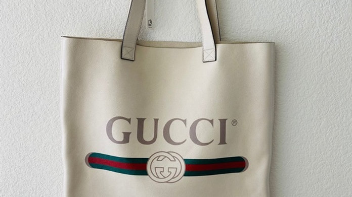 New Large Gucci Leather Tote