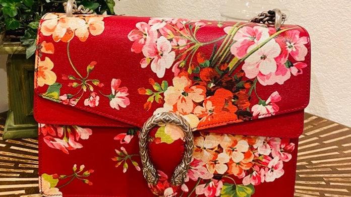 Brand New Dionysus Blooms Leather Shoulder Bag