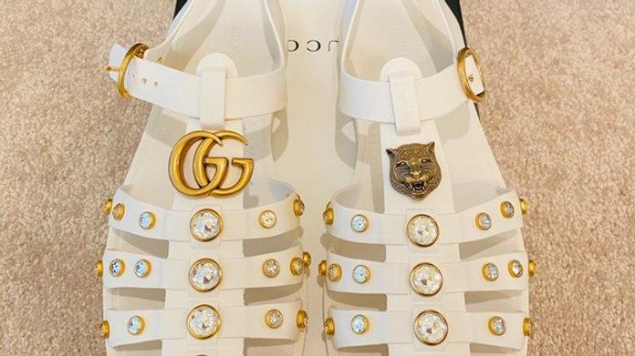 SOLD - New Gucci Rubber Sandals (Women size 11/Men size 7)