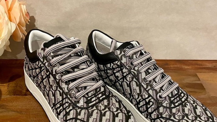 New Jimmy Choo Glitter Sneakers Size (9.5)