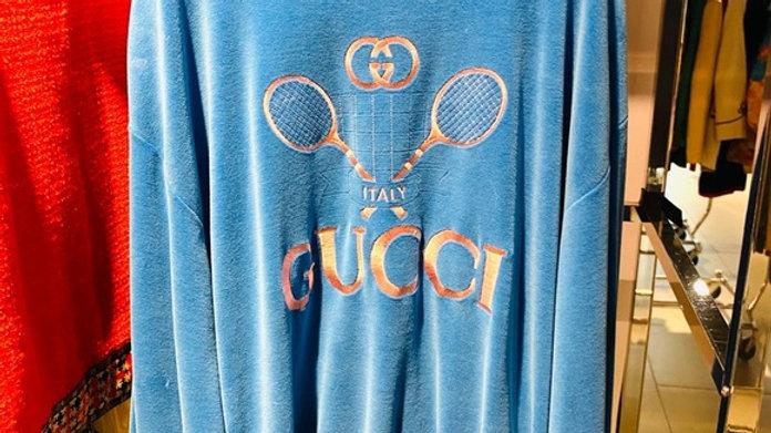 New Gucci Velvet Tennis Sweatshirt  (Large)