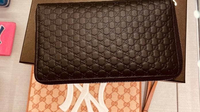 New Gucci XL Gucci Zip Around Wallet MicroGuccissima Leather