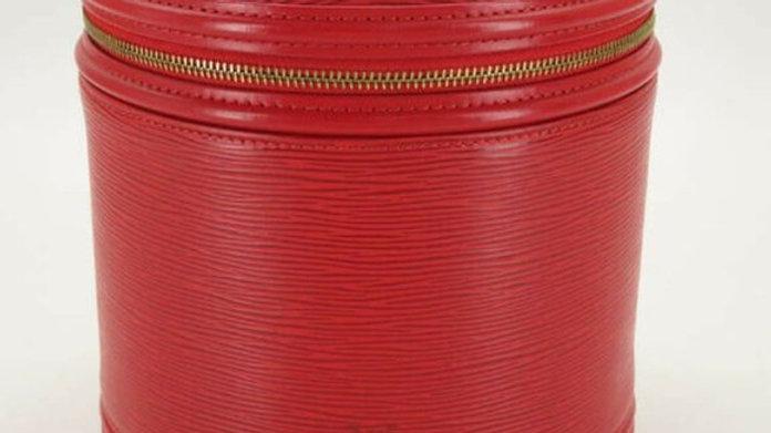 LOUIS VUITTON EPI RED CANNES VANITY BAG - PreLoved