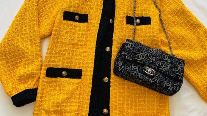 New Gucci Tweed Coat with Trining (Medium)