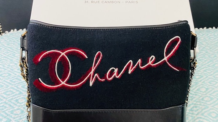 Chanel Wool Embroidered Gabrielle Hobo - PreLoved