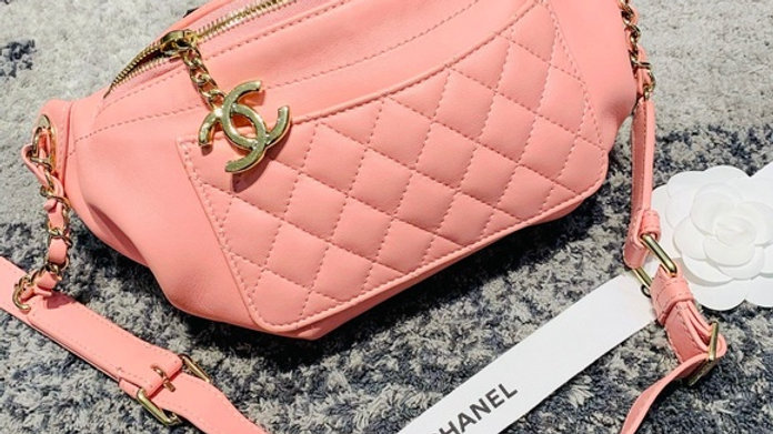 "Chanel Calfskin ""Pocket"" Banane Fanny Pack - PreLoved"