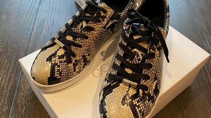 New Jimmy Choo Snake Pattern Sneakers (Size 9.5)