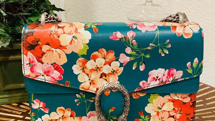 Sold - Brand New Dionysus Blooms Leather Shoulder Bag