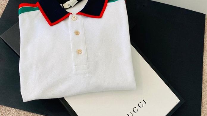 SOLD - New Logo-stripe Cotton-blend Polo Shirt (XXL)