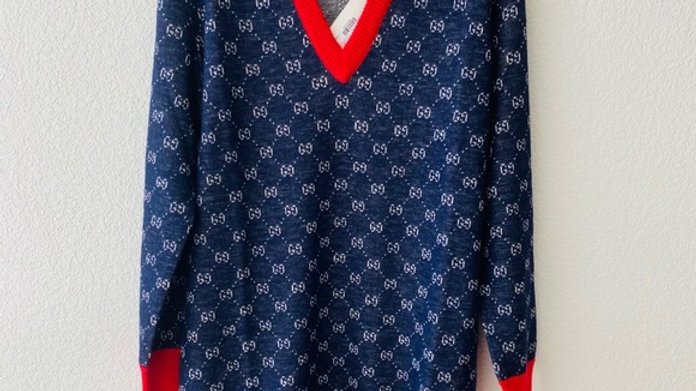 New GG wool and alpaca sweater dress (Medium)