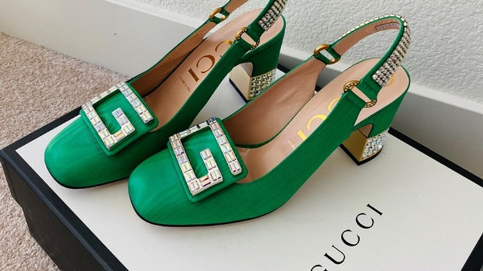 Sold - New Gucci Diamond GG Logo & Heels  (Size 10)
