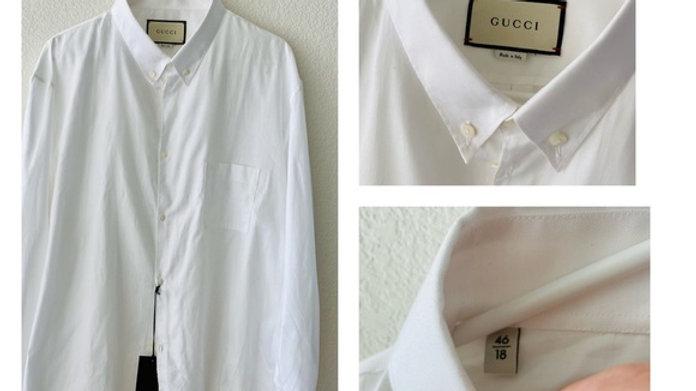 New Gucci Tuxedo White Shirt - Size  (46/18)