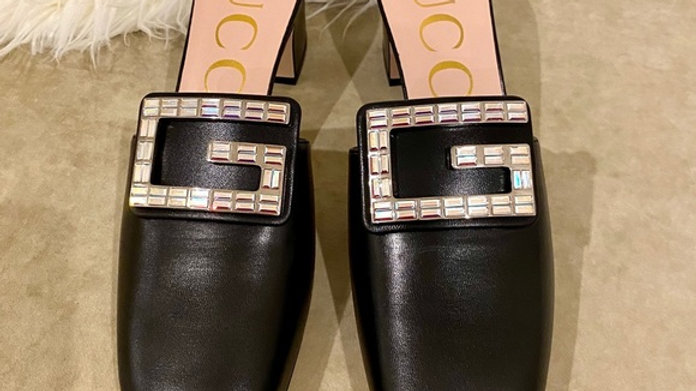Sold - New Gucci Crystal GG Heel (Size9)
