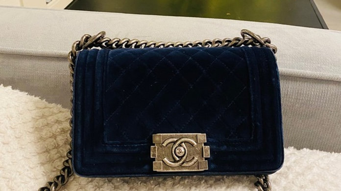 Chanel Boy Flap Bag Quilted Velvet Small - PreLoved