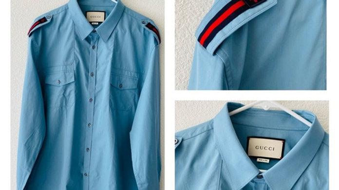 New Gucci blue dress shirt - Size  (XL)