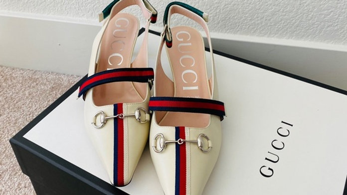 Brand New Women 9.5 Classic Gucci Velcro Slides (Size 9.5)