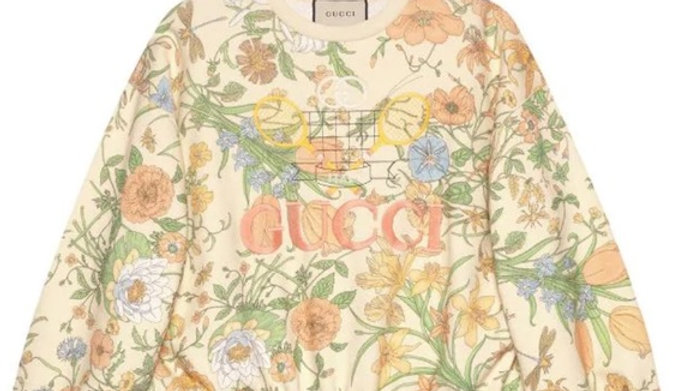 New Gucci oversize floral Sweatshirt (Large)