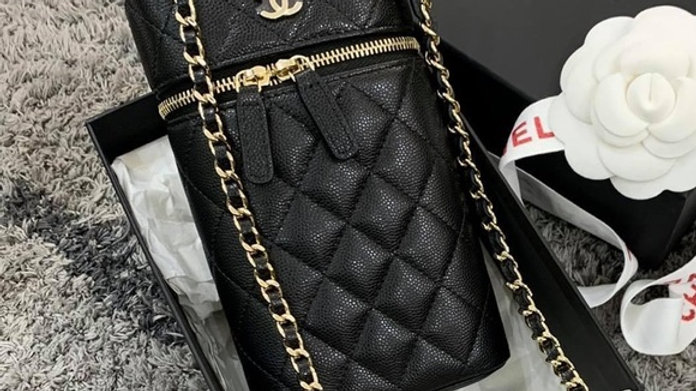 Chanel vertical mini vanity case