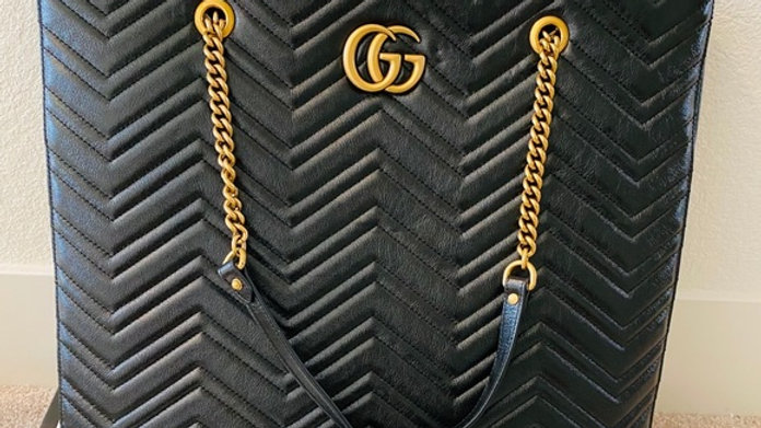 Large GG Marmont Matelassé Tote