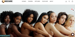 Nude Barre homepage featured in Wardrobe Wellness blog post