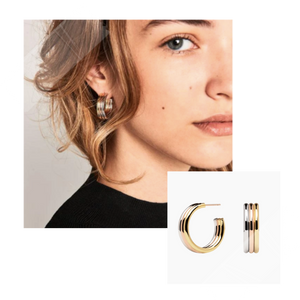 PD Paola Pure Supreme Earrings featured in Wardrobe Wellness blog post