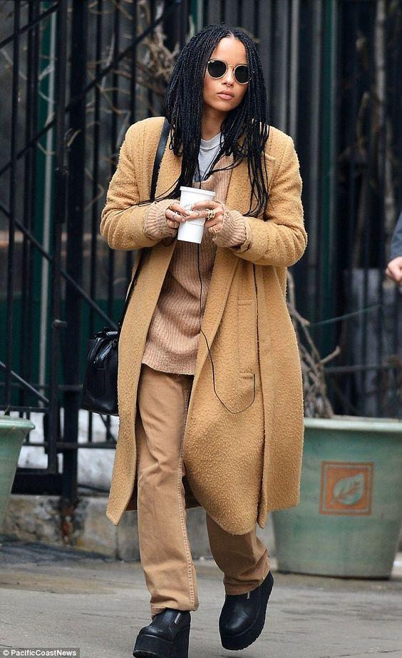 Zoe Kravitz in chunky boots on Wardrobe Wellness blogpost