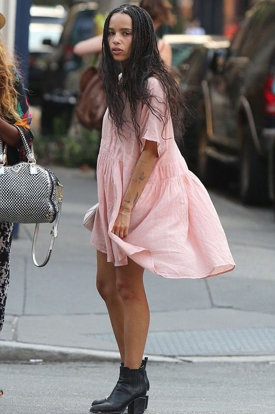 Zoe Kravitz in black bootie on Wardrobe Wellness blogpost