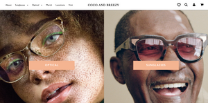 Coco and Breezy homepage featured in Wardrobe Wellness blog post