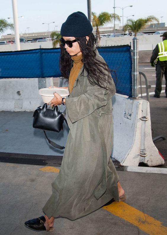 Zoe Kravitz in Gucci mules on Wardrobe Wellness blogpost