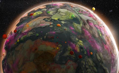 Planet Halloween Concept